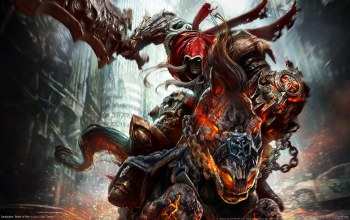 конь,всадник,демон,darksiders: wrath of war