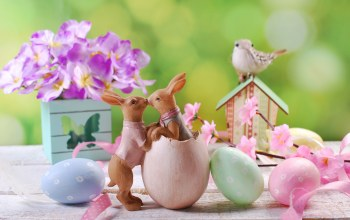 Easter,цветы,яйца,Весна,happy,decoration,spring,eggs