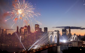 fireworks,америка,фейерверк,салют,Brooklyn bridge,new york