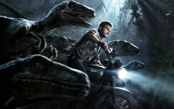 jurassic world,Мотоцикл,chris pratt,динозавры