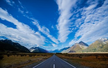 Road,sky,mountain,higway