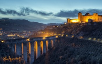 Spoleto,bridge,landscape