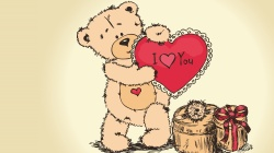 I love you,Медведь,Valentines day,teddy bear,День влюбленных