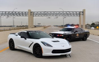 hennesey,dodge,chevrolet,police car,Challenger SRT,Stingrey,corvette