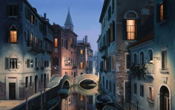eugeny lushpin,italy,Night dreams,painting,евгений лушпин,venice
