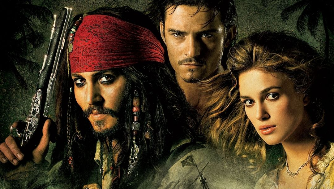 johnny depp,the curse of the black pearl,The pirates of the caribbean,orlando bloom