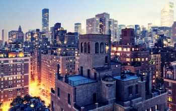Upper east side,Nyc,сумерки,Twilight,new york city