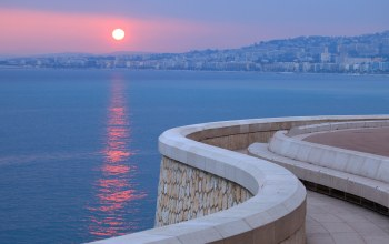 embankment,french riviera,france,Sunset