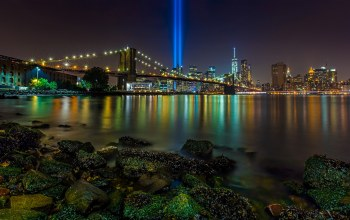 Brooklyn bridge,manhattan,Tribute in Light,east river,new york city,Brooklyn bridge