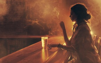 girl,glass,smoke,Bar,cigarette,light