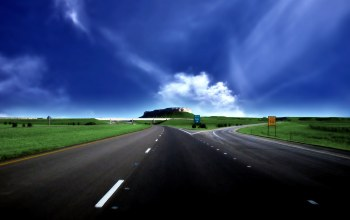 blue,Road,sky,higway,mountain