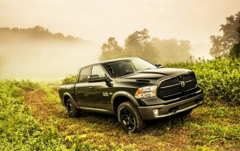 fog,truck,dodge,1500,vegetation,saw,5.7-liter,Road,way