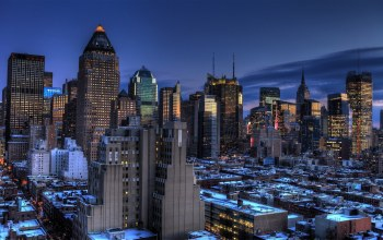 manhattan,blue hour,midtown,new york
