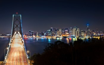 lights,bridges,san francisco,sky