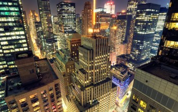 ночь,new york,midtown,небоскребы,manhattan at night