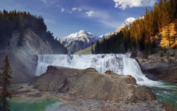 british columbia,kicking horse river,wapta falls,yoho national park,canada,Канада