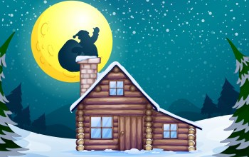 santa claus,snow,vector,christmas,санта-клаус,house,graphic,камин,chimney,рождество,вектор,tree