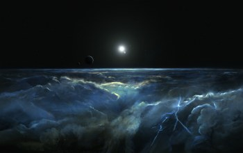Spacescapes,Stormy Atmosphere of Merphlyn