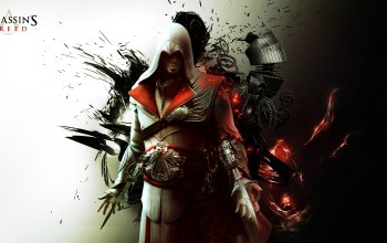 Abstract,ezio auditore da firenze,Assassins creed brotherhood,убийца