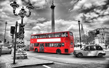 bus,england,lights,black and white,london,Road,street