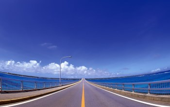 Road,water,sky,blue