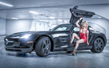 Model and Supercar,mercedes