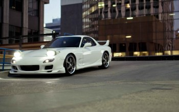 tuning cars,wallpapers auto,White,auto,Mazda rx7,cars walls,cars