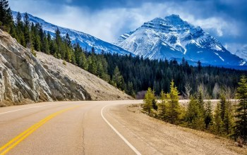 canada,park,Road,tree,mountain,sky,jasper