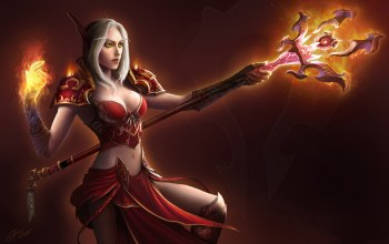 world of warcraft,эльфийка,wow,посох,blood elf
