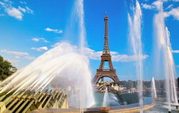 france,paris,Eiffel tower and fountain