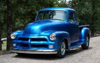 chevy,blue,1954,truck