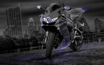 R750,gsx,violet,Neon. Night. el Tony Cars,Тони Кохан,moto,crystal,photoshop,suzuki