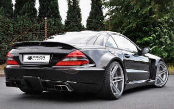 prior design,mercedes-benz sl r230 black edition,car