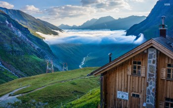 alpes,Cottage,mountain