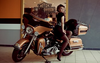 Мотоцикл,Harley davidson,pin up