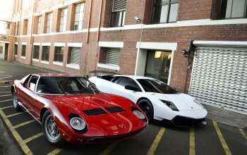 miura,Red,lp670-4 sv,building,Lamborghini,White