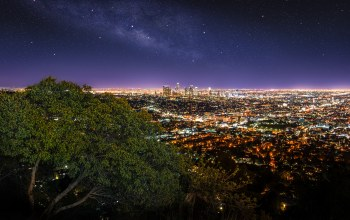 griffith observatory,los angeles,панорама. огни