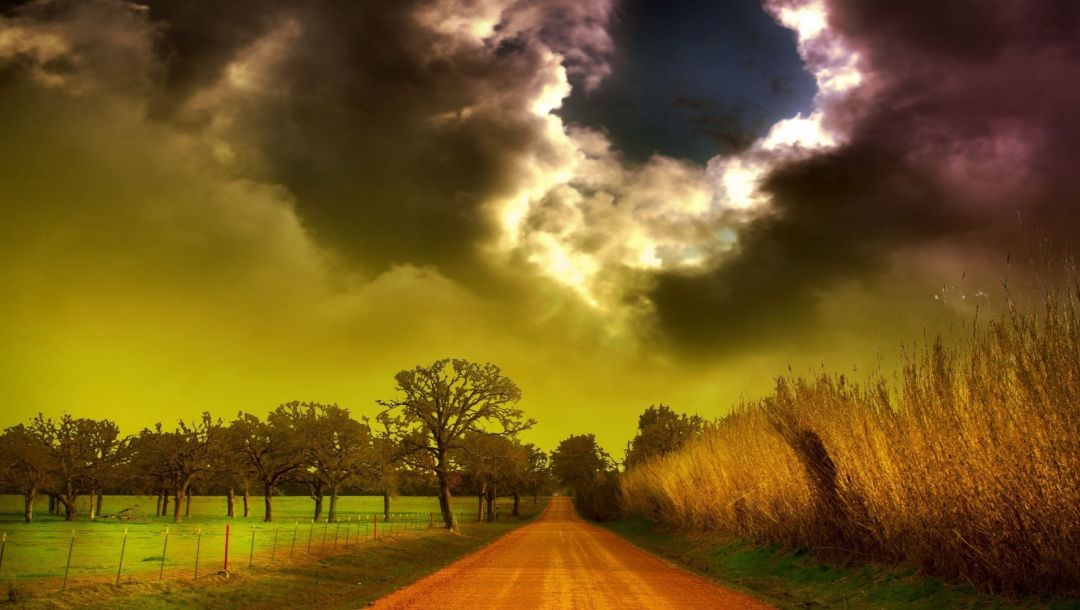 sky,clouds,storm,Road