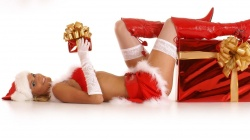 Santa,beautiful,gifts,merry christas,boots,Red,girl