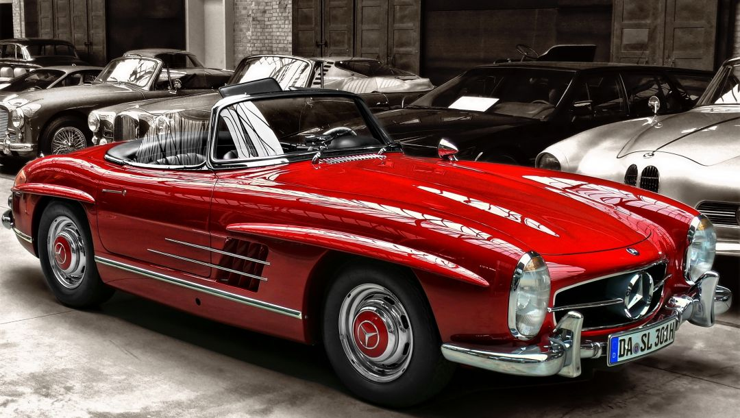Red,sl,Mercedes benz,300,cabrio