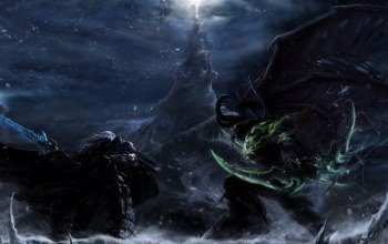 lich king,batlle,versus,Illidan vs. arthas,warcraft iii 3 frozen throne,fight,frostmourne