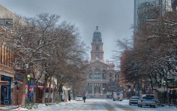 техас,форт-уэрт,snow,Courthouse,fort worth,Texas