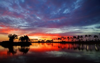 Hawaii,Sunset,Вода