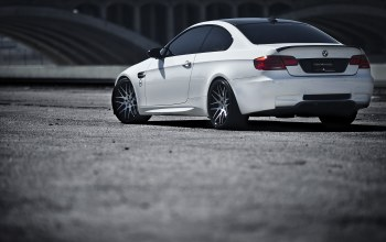 M3,White,wheels,Bmw,вид сзади