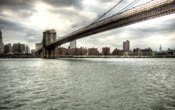 Вода,new york,bridge,brooklyn