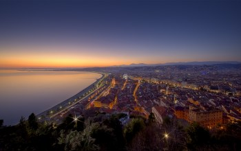 on the French Riviera,over vieux nice,du chateau