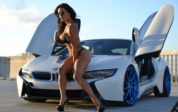 Bmw,i8,sexy,pose,sue lasmar