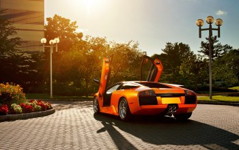 ламборджини,orange,Lamborghini,мурселаго
