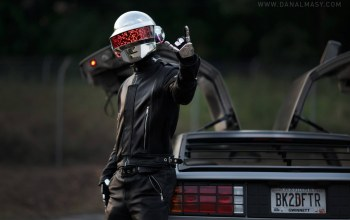 rock,Daft punk,guy,de lorean