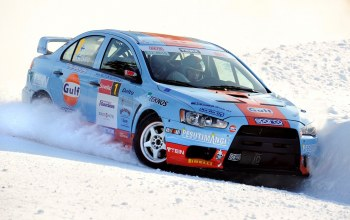 sport,автомобиль,Race,car,evolutionx,cars,winter,snow